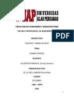 SEGUNDO TRABAJO DE PUENTES Y OBRAS DE ARTE (DE LA PAZ LLAMPASI, RONALD MAIK)