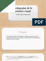 Pedagogías de lo artístico visual