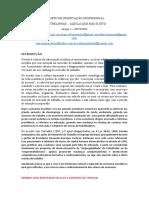 PROJETO DE ORIENTAÇÃO PROFISSIONAL
