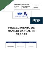 PROCEDIMIENTO  DE MANEJO MANUAL DE CARGAS
