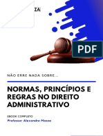 16. Normas, Princípios e Regras no Direito Administrativo