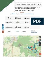 Bullion _ Rando du Sanglier Bullionnais 2017 - 30 km