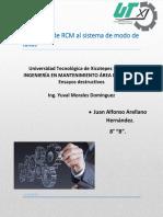 Aplicación de RCM al sistema de modo de fallas