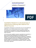 EVERYTHING YOU NEED TO KNOW ABOUT QUANTITATIVE RESEARCH -PART II