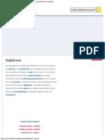 Adjetivos Qué son, características, tipos, cómo se usan, para qué sirven, ejemplos
