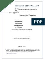 PRÁCTICA DE EQUIVALENCIAS Y VALOR DEL DINERO EN EL TIEMPO