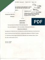 Willie Ray Bryant Threat Indictment