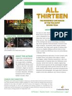 All Thirteen by Christina Soontornvat Teachers' Guide