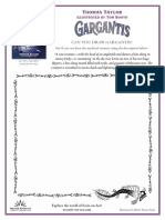 Gargantis by Thomas Taylor and Tom Booth Activity Sheets