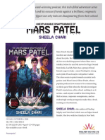 The Unexplainable Disappearance of Mars Patel by Sheela Chari Press Release