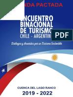 AGENDA PACTADA PARA LA INTEGRACIÓN TURÍSTICA DE CHILE Y ARGENTINA
