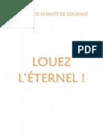 CARNET DE CHANTS DE LOUANGE