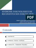 SINDROME INMUNOLOGICO DE RECOSNTITUCION INMUNE (IRIS)