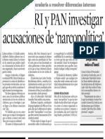 27.04.2007 Exigen PRI y PAN investigar acusaciones de 'narcopolítica'
