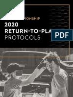 USL Championship Return to Play Protocols