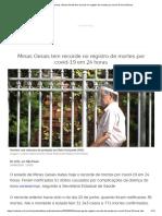 Coronavírus_ Minas Gerais tem recorde no registro de mortes por covid-19 em 24 horas