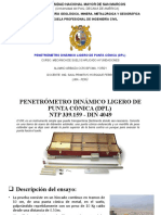 PENETRÓMETRO DINÁMICO LIGERO DE PUNTA CÓNICA (DPL
