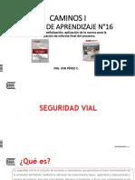 Diapositiva N°16 Seguridad Vial, señalización, aplicación de la norma para la presentación de informe final del proyecto.