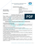 GA-MA-003. MANUAL DE FUNCIONES DIRECTOR ADMINISTRATIVO