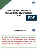 Título - Incumbencia - Colegio - Caja 2019