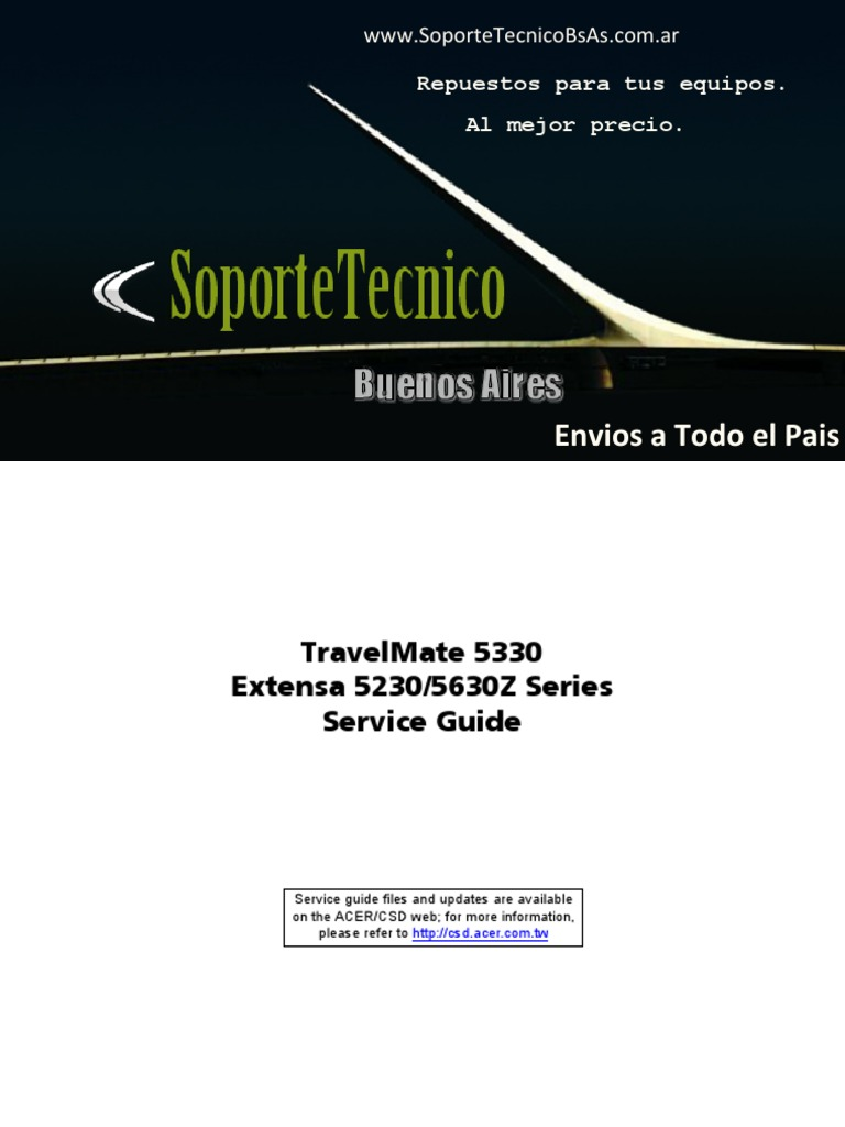 163 Service Manual -Travelmate 5330 Extensa 5230 5630z   Cd Rom   Computer  Keyboard