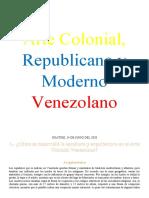 Arte Colonial, Republicano y Moderno Venezolano