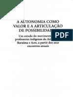 A AUTONOMIA COMO VALOR E A ARTICULACAO DE POSSIBILIDADES(1)