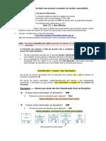 Exemplos de inscrições em exames