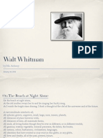 Poet - Walt Whitman