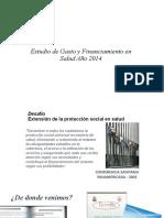 Gasto y Financiamiento en Salud Año 2014