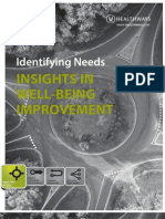 Identifying Needs - Insights in Well-Being Improvement