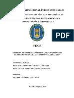 Sistema de gestion, analisis y cartografia para el seguro agricola catastrofico