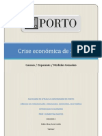 A crise económica de 2008