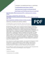 MODULO II CONTROL INTERNO Y SU SIGNIFICADO PARA LA AUDITORIA