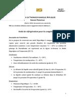 Examen Thermodynamique appliquée 2011_Principale