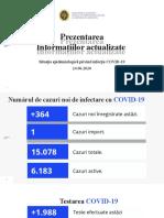 Raportul COVID-19 privind situația epidemiologică la 24 iunie 2020 (ora 17:00)