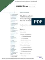 32. ¿Cómo redactar un discurso para exponer en público_ - redac_especializada