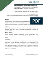 Características del develamiento del abuso sexual infantil (A.S.I) 2017 cordova