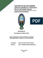 DT-V-XIV 052 PROCEDIMIENTO PARA DETERMINAR EL RÉGIMEN COMPLEMENTARIO AL IMPUESTO AL VALOR AGREGADO