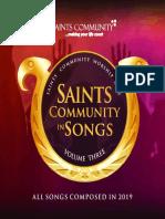 Saints communing songs VOL 3 SONG SHEET