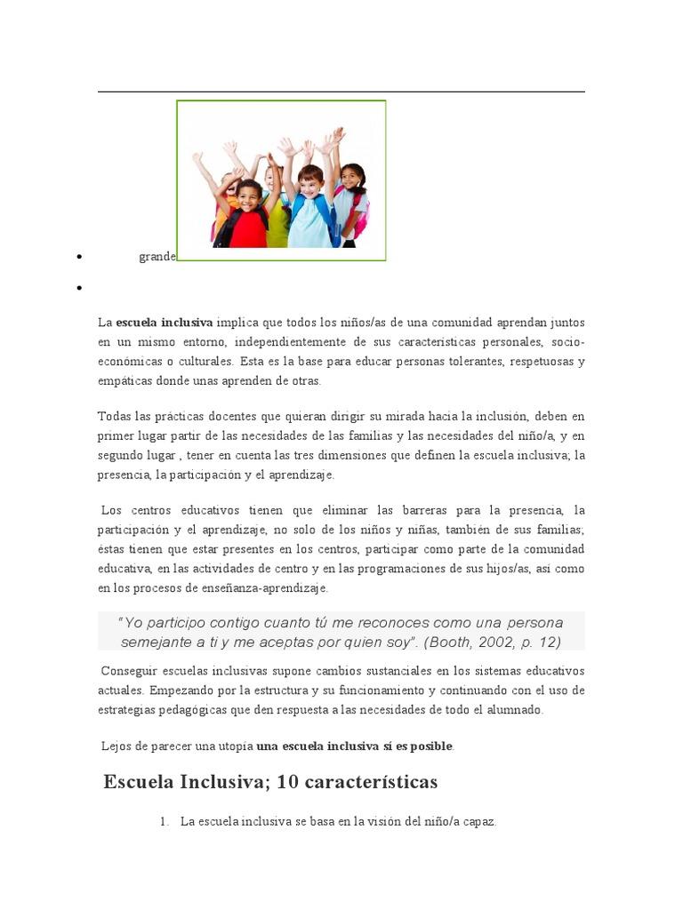 Implicaciones E Inclusiva Inclusión Educación Aprendizaje
