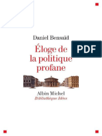 Eloge de la politique profane -Daniel  Bensaid