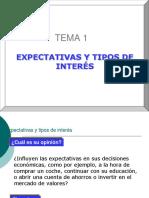 Macro II Tema 1 EXPECTATIVAS Y TIPOS DE INTERÉS