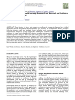 Disaster Preparation and Recovery. Lessons from Research on Resilience in Human Development