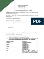 TALLER PRACTICO DE BASES DE DATOS ACCESS