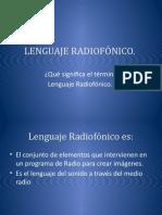 Power point del lenguaje radiofónico.