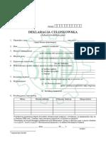 Deklaracja czlonkowska SIMP