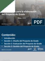 Lineamientos para la elaboración del Proyecto de Grado_22MAY2020_instituciones.pptx