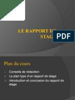 Le rapport de stage