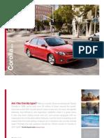 Corolla 2011 Manual